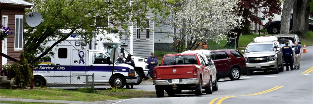 Neighborhood homes around Summer and Pleasant Streets in Skowhegan were evacuated while police from several agencies investigated homeowner Philip Ewing at nearby 15 Summer St. after explosive-making materials were discovered there Sunday.