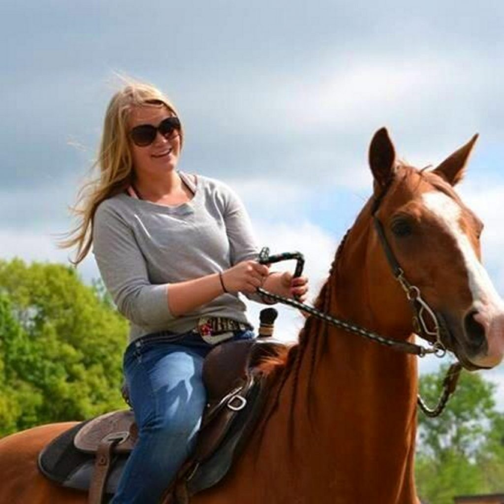 Halee Cummings and one of her horses. The Sidney teen, who died in an ATV crash Sept. 18, 2015, loved horses and was a competitive barrel racer.
