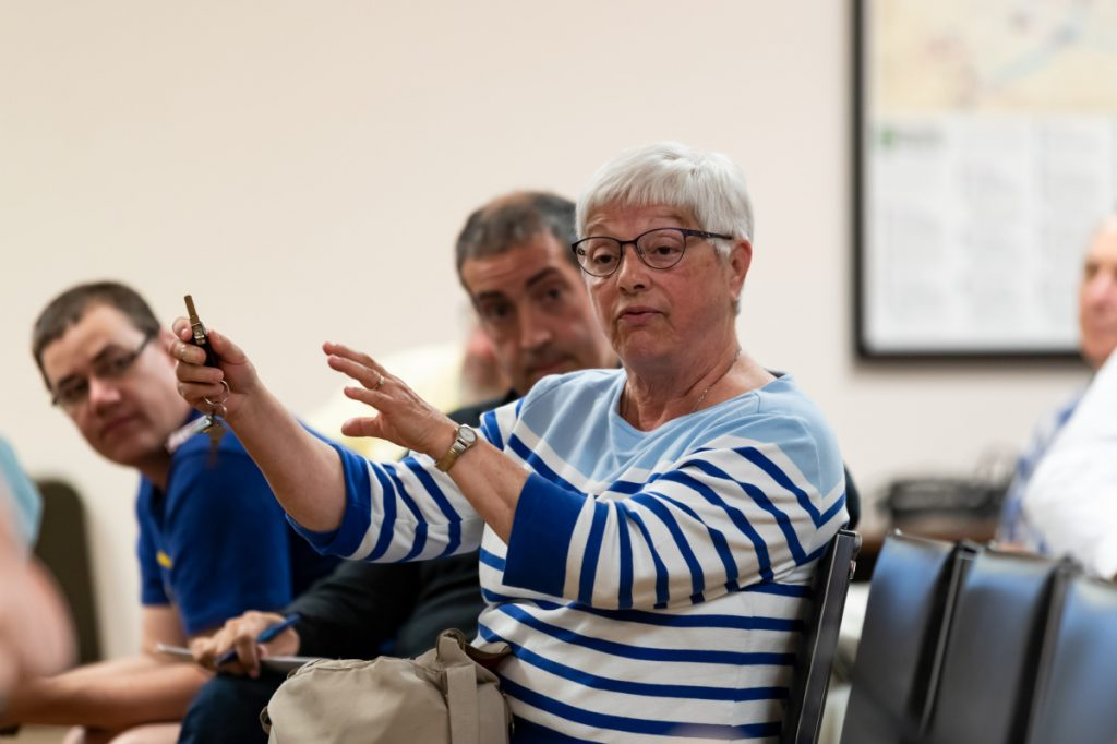Ward 5 resident Sandra Sullivan tells the City Council during the budget meeting Tuesday, that after the revaluation of her Waterville property, 2 mill increases in the budget are unaffordable for her.