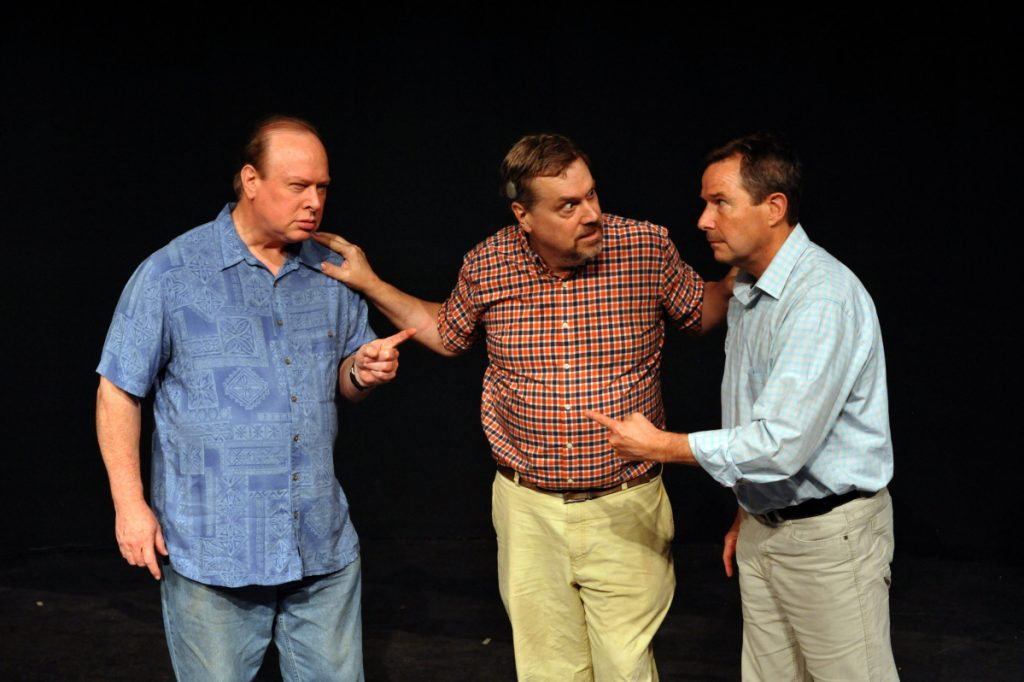 "The case of ""Moonlight and Magnolias,"" from left, Joe Klapatch, Randolph M. Jones and Peter Diplock."