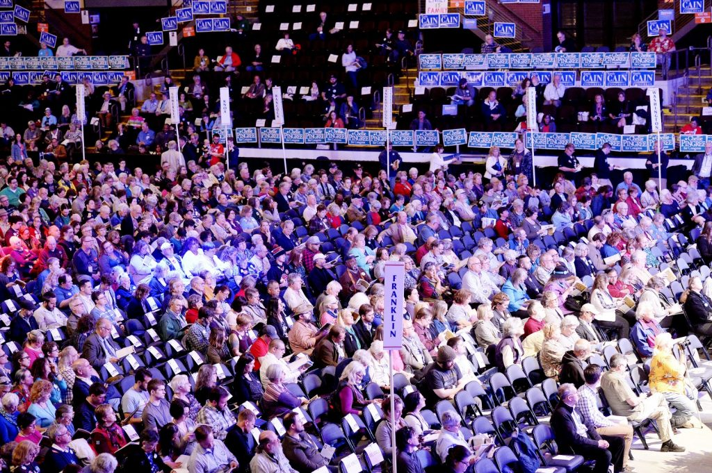 Democratic delegates gathered at the Cross Insurance Arena in Portland for their 2016 state convention.
