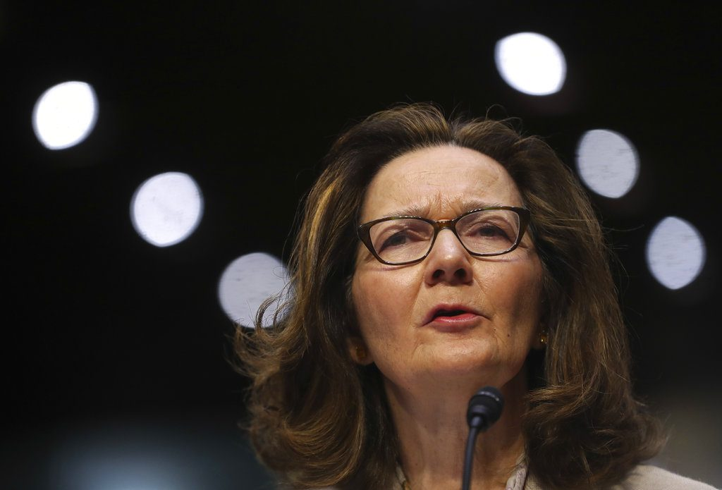 CIA nominee Gina Haspel testifies during a confirmation hearing of the Senate Intelligence Committee, on Capitol Hill, Wednesday, in Washington.