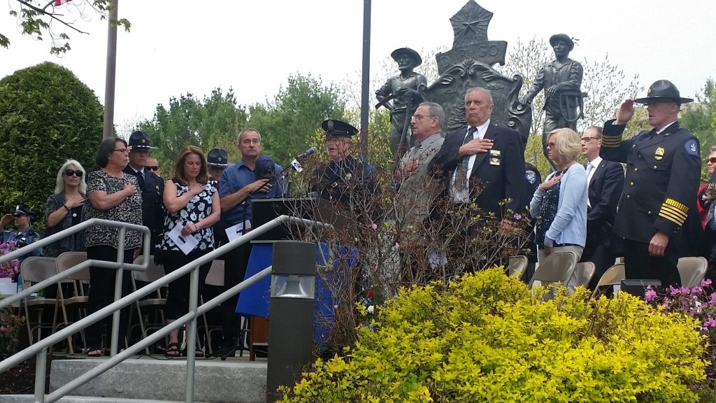 Annual service at the Maine Law Enforcement Officer's Memorial in Augusta.