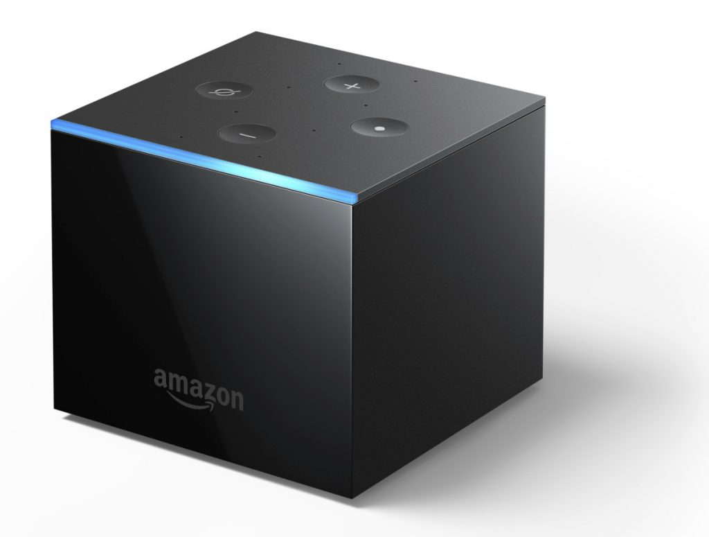 An Amazon Fire TV Cube.