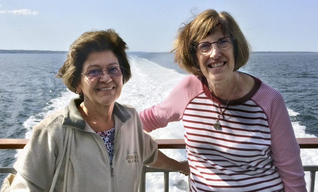 After 50 years of writing letters, pen pals Gigi Davin of Sabattus and Kris Grahn of Oshkosh, Wis., boarded a ferry in Portland last week en route to Nova Scotia.