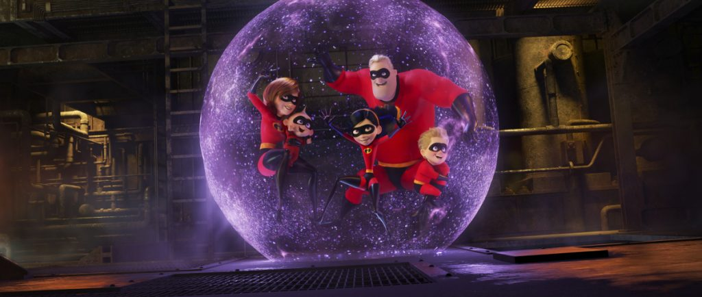 """This image released by Disney Pixar shows a scene from """"Incredibles 2,"""" which had a record-breaking debut."""