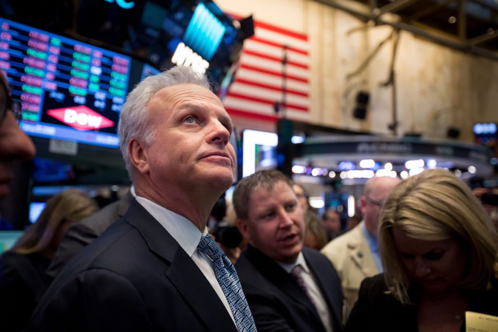 David Neeleman stands on the floor of the New York Stock Exchange in New York on April 11, 2017. MUST CREDIT: Bloomberg photo by Michael Nagle.