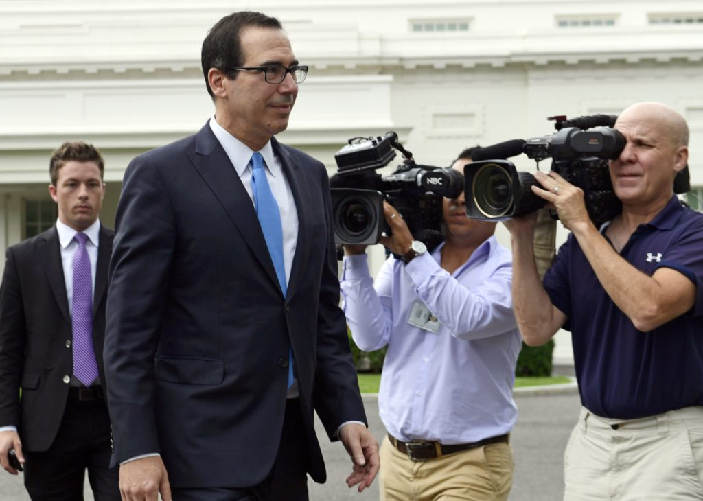 Treasury Secretary Steven Mnuchin at the White House on Wednesday.