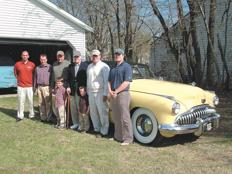 Four generations of the family: Corey, Toby, Walter, Jackson, Kirby, Kaeson, Lou and Sam Hight.