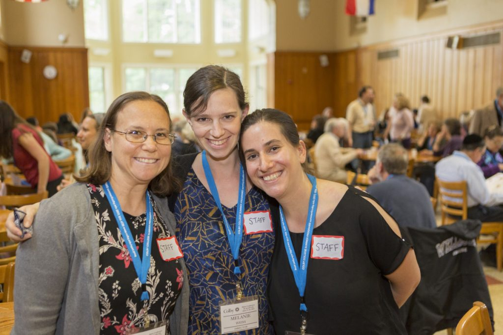 Rabbi Erica Asch, left, with Melanie Weiss and Rabbi Rachel Isaacs, organizers of the Maine Conference for Jewish Life.