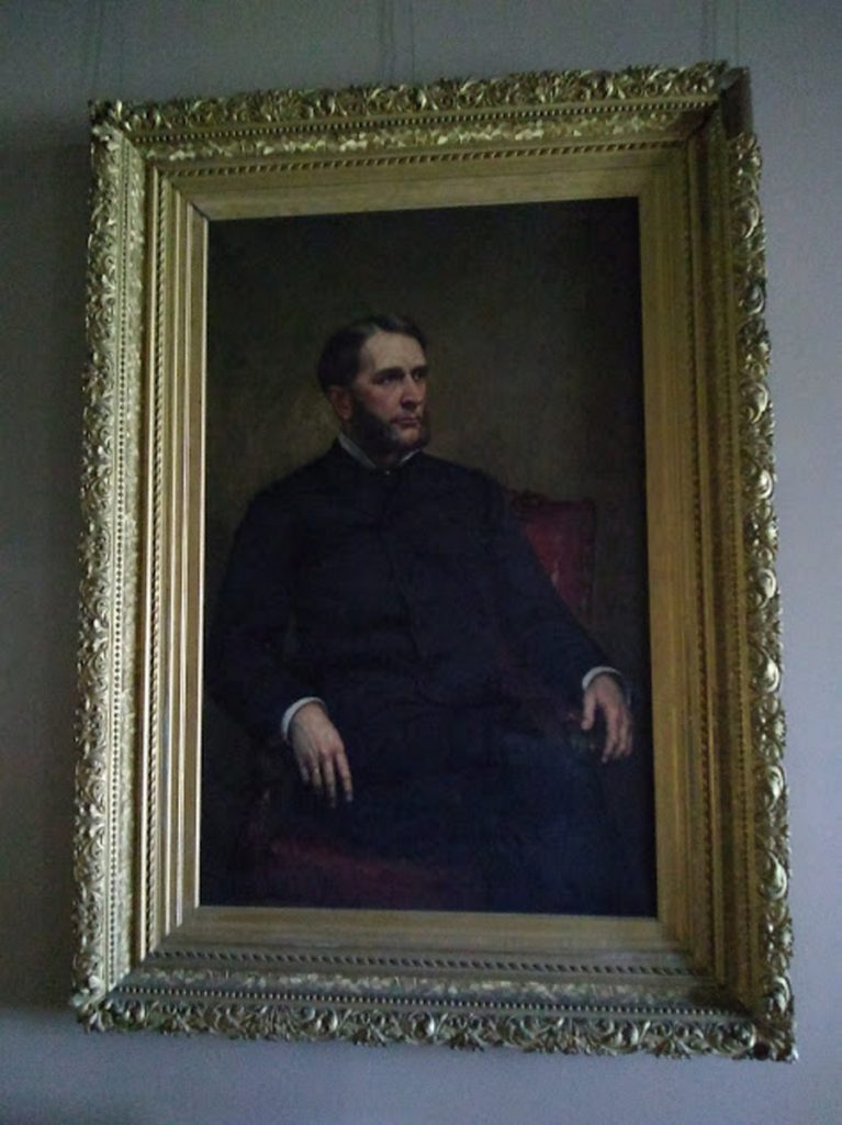 Another portrait that will be restored is this one of William Drew Washburn, painted by George Peter Alexander Healy. Cadwallader's younger brother, William Drew, eventually settled in Minneapolis and managed his brother's  mills for a time, built canals and developed his own lumbering and saw mills. He also owned his own flour mill —  Washburn Mill Co. which became Pillsbury-Washburn LTD.  General Mills acquired Pillsbury in 2001.
