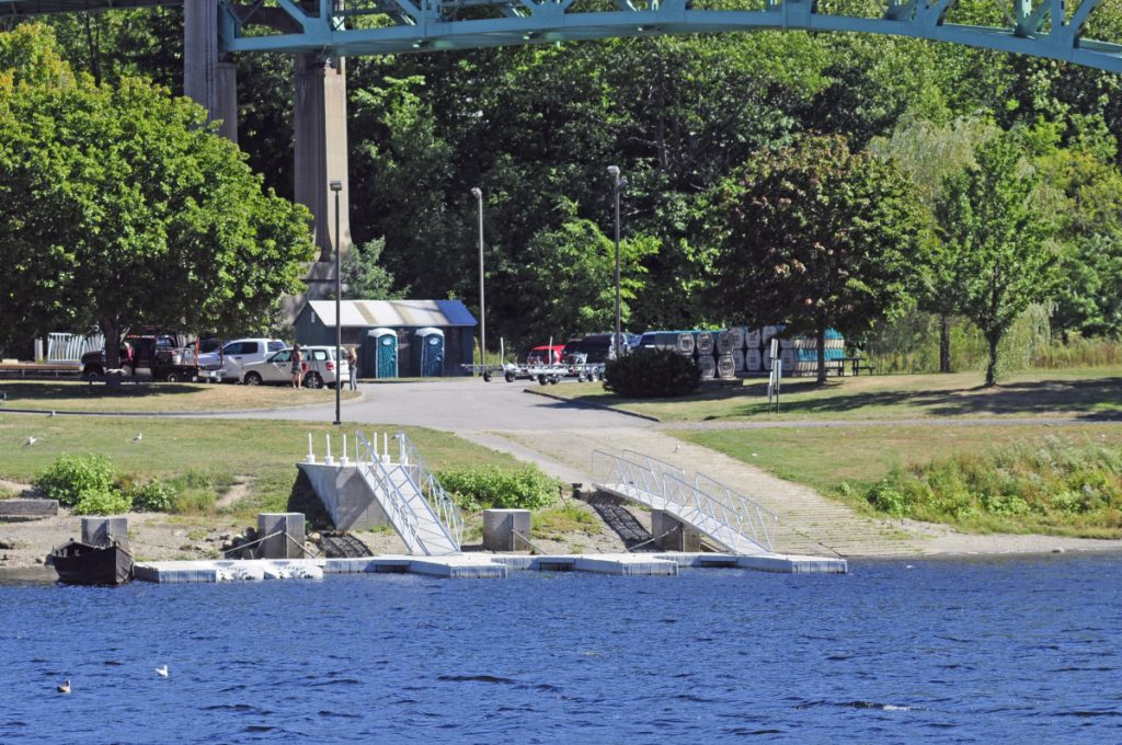 Augusta's East Side Boat Landing is seen in September 2016 shortly after a drowning child was pulled out of the Kennebec River there.