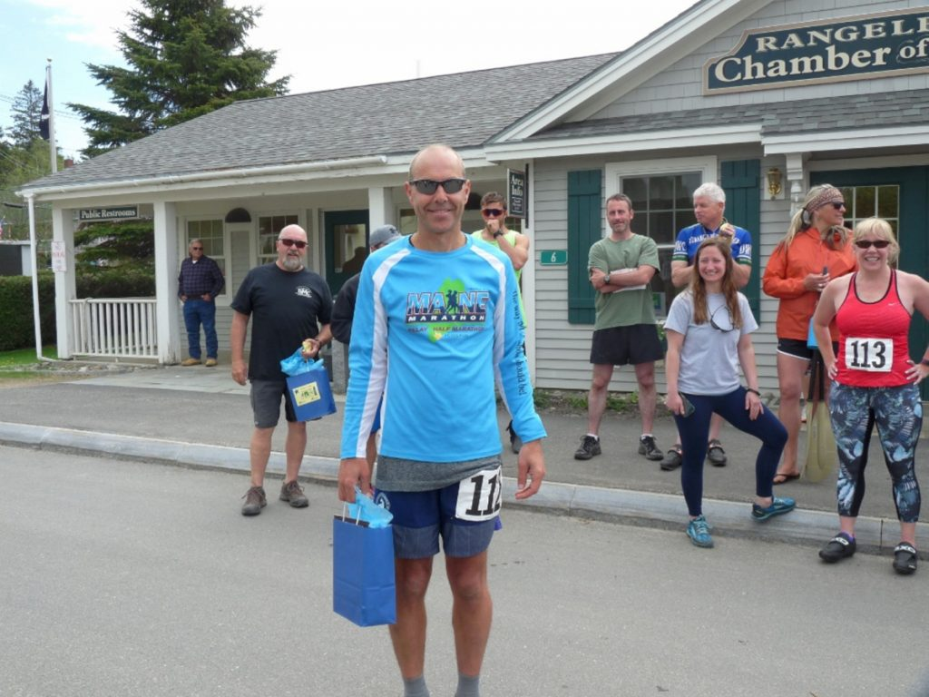 Mark Bolduc was the men's winner of the Rangeley RuKaBi race.