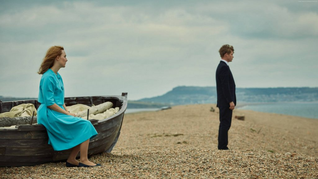"Saoirse Ronan and Billy Howle in ""On Chesil Beach."""