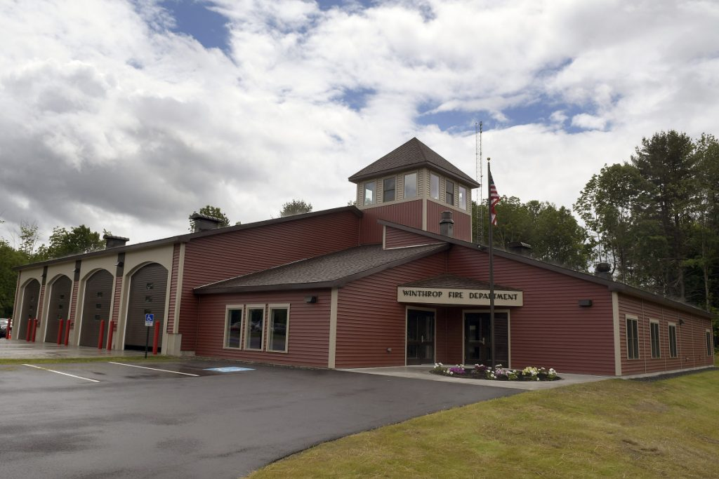 The exterior of the new Winthrop Fire Station on U.S. Route 202 is seen Thursday.