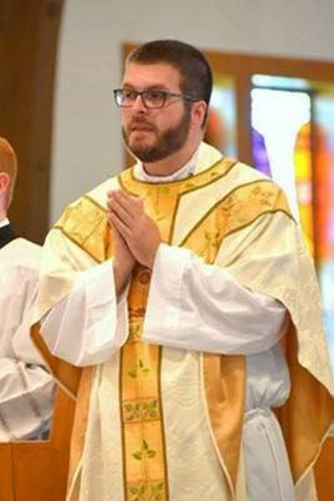 The Rev. Patrick Finn was ordained June 16 by Bishop Robert Deeley at St. John the Baptist Church in Brunswick, and then celebrated a Mass of Thanksgiving at St. Mary Church in Bath the following day. He has been assigned to Corpus Christi parish and begins his ministry July 1.