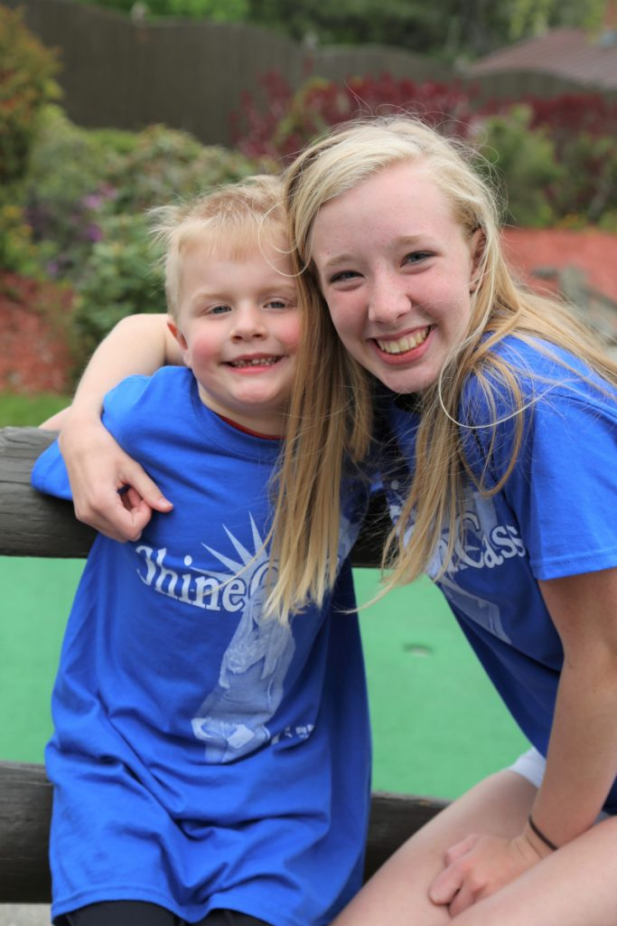"""Big Sister"" Paige Lilly and her ""Little Brother"" Hunter Stevens were among more than 200 people who attended Big Brothers Big Sisters of Mid-Maine's second annual ""Putt 4 Cass"" event May 15 at Gifford's Famous Ice Cream and Mini Golf in Waterville."