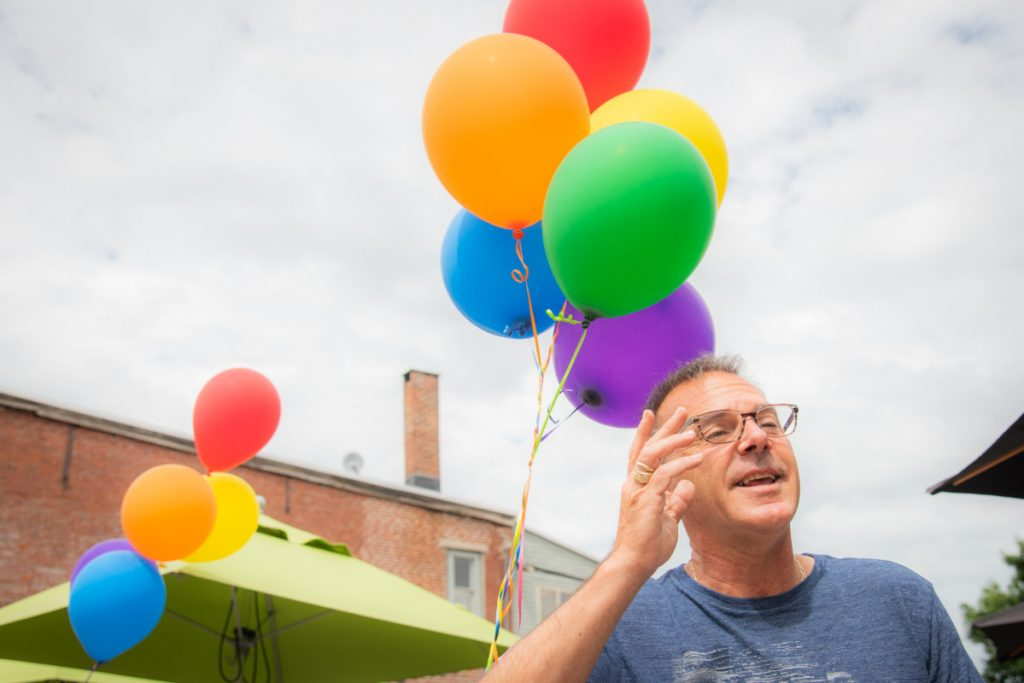 Chris Vallee, an organizer of Hallowell's inaugural LGBTQ Pride festival on Saturday, explains that the event was held to encourage visitors to come to the community. Pride activities started on Friday and conclude on Sunday.
