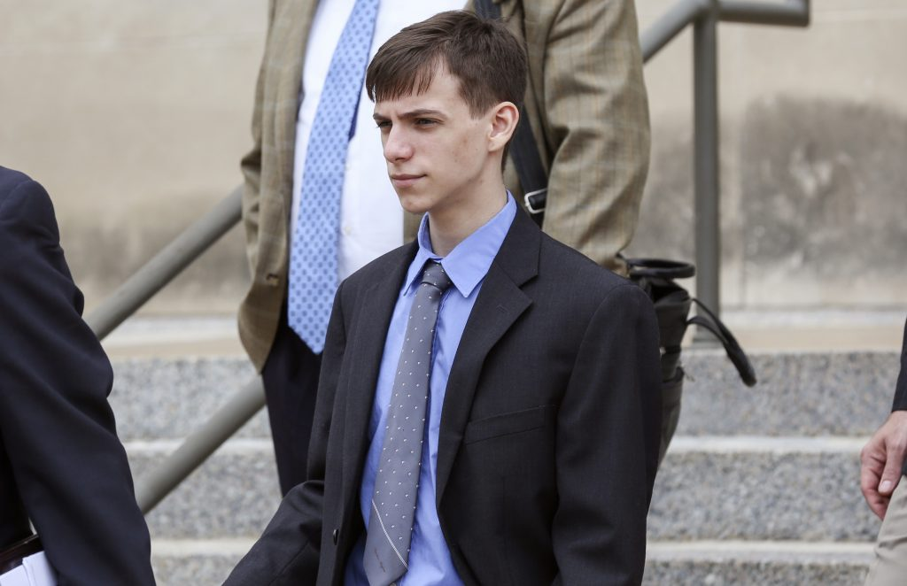 Casey Viner, 18, of Ohio, one of the three men accused of orchestrating a swatting call that ended with a 28-year-old man being killed by a Wichita, Kan., police officer last December, was in federal court in Wichita on Wednesday, June 13, 2018. Viner pleaded not guilty to several counts of wire fraud, conspiracy, obstruction of justice and conspiracy to obstruct justice.