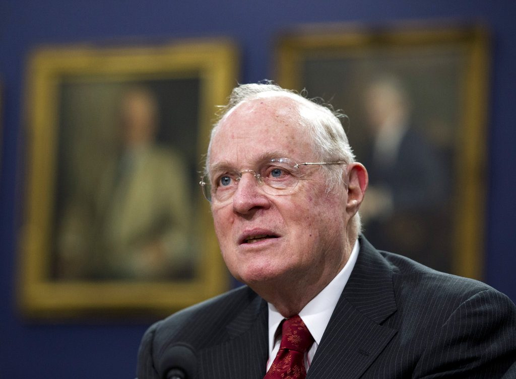 Supreme Court Associate Justice Anthony Kennedy testifies before a House Committee on Appropriations Subcommittee on Financial Services hearing in Washington on March 23, 2015. The 81-year-old Kennedy said Tuesday, that he is retiring after more than 30 years on the court.