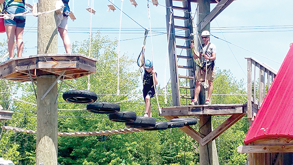 A ropes course similar to this can be found just down the road from Boothbay at Monkey C Monkey Do in Wiscasset. Reservations are recommended.  Kris Ferrazza photos