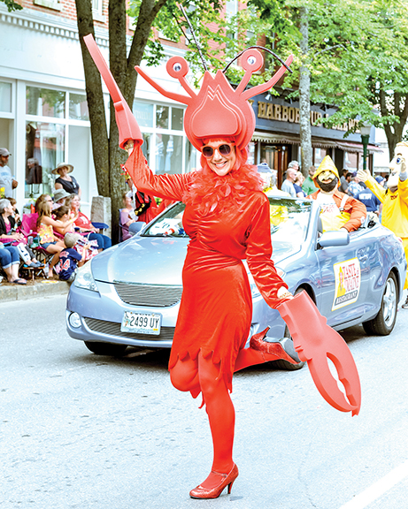 The annual Lobster Festival in Rockland will try something different this year with festival organizers banning political floats and marches from the parade. Still welcome, and encouraged, however, are people dressed as Rockland's favorite crustacean.   Tim Sullivan photo