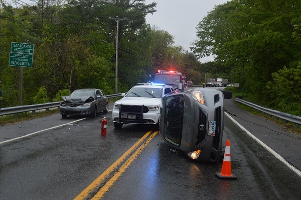 This crash on Route 1 in Woolwich on Wednesday was blamed on road rage.