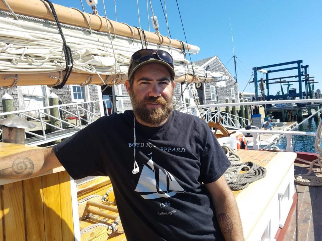 Adam McKinlay will serve as chef aboard the historic schooner Boyd N. Sheppard.