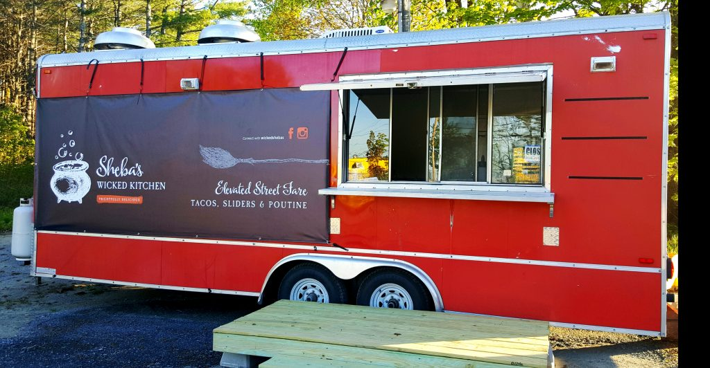 Artsy food trucks like this tomato-red Sheba's Wicked Kitchen vehicle bring creative walk-up food choices to foodies all over Maine.  Contributed photo from Sheba's Wicked Kitchen