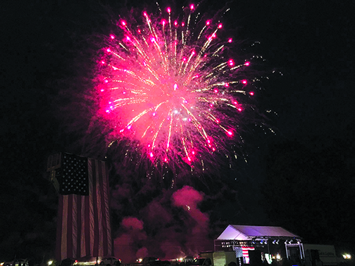 Central Maine 4th of July fireworks last year at the Clinton Fairgrounds. Central Maine 4th of July photo