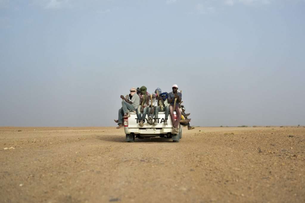 Nigeriens and third-country migrants head towards Libya from Agadez, Niger in June.