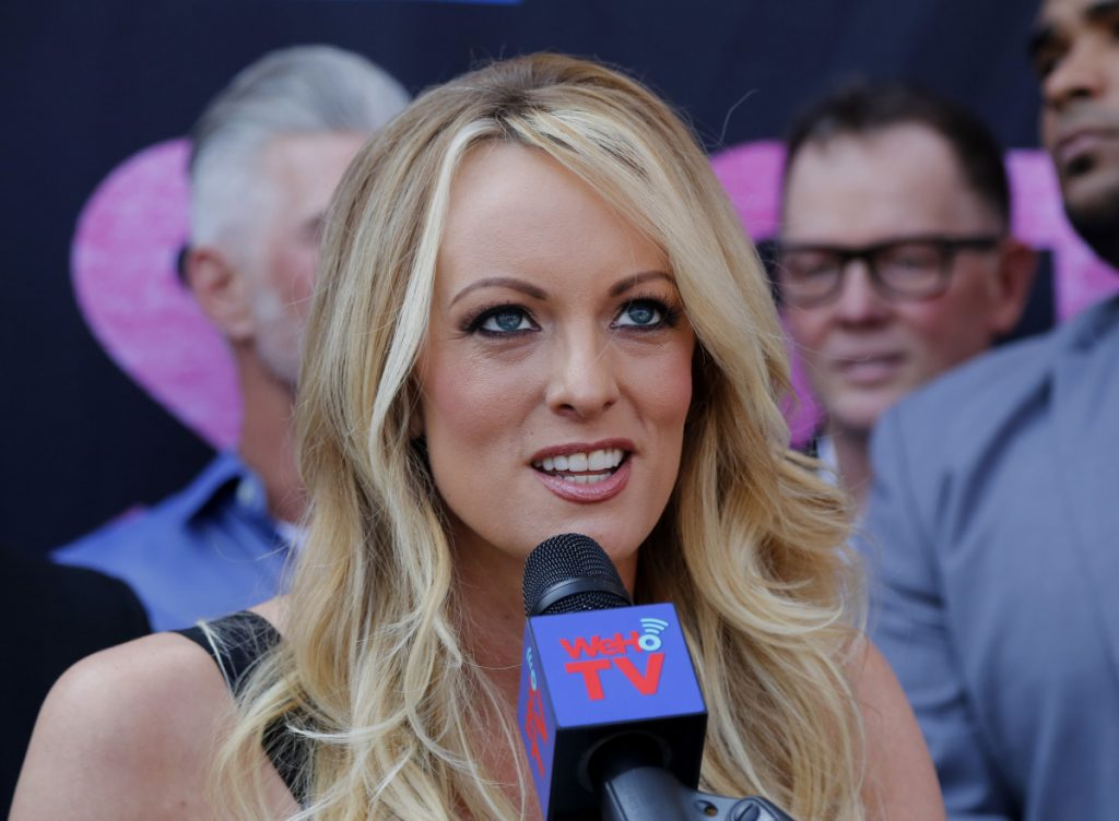 Porn actress Stormy Daniels was arrested at Sirens, a strip club in Columbus, Ohio, and was accused of letting patrons touch her in violation of a state law.