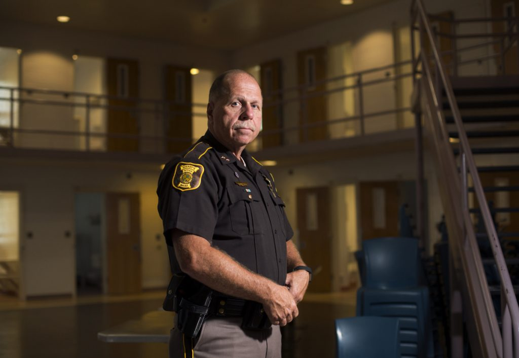 Cumberland County Sheriff Kevin Joyce poses for a portrait at the county jail on Thursday.
