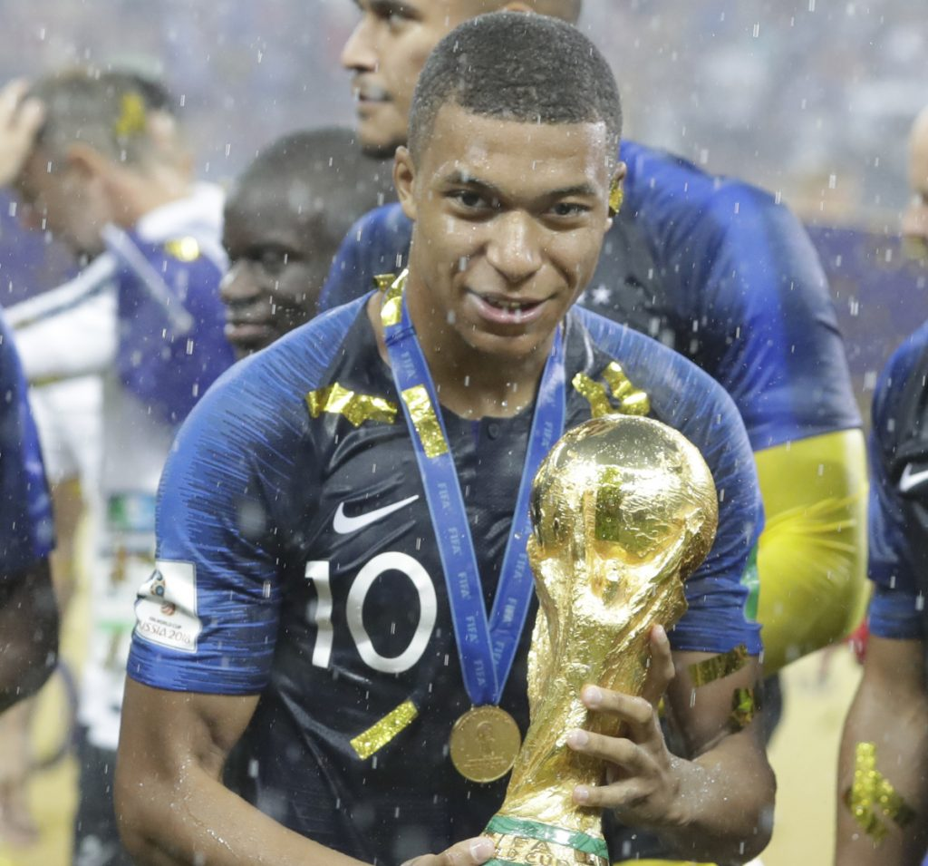 Kylian Mbappe could end up holding the World Cup more than once. He'll be 23 in 2022 and an in-his-prime 27 in 2026.