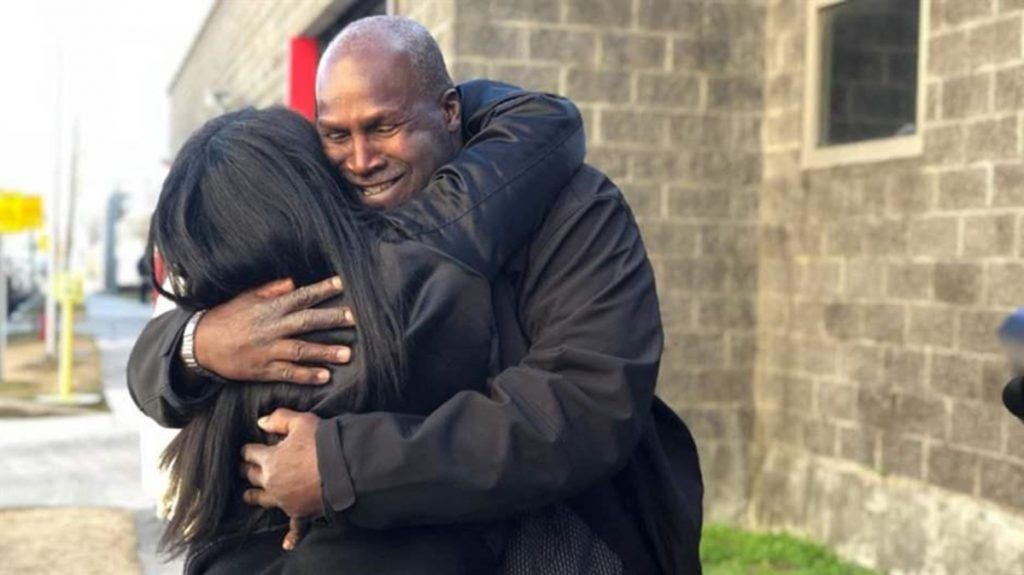 Malcolm Alexander hugs his niece in January after his release from the Louisiana State Penitentiary at Angola after nearly 38 years. DNA evidence proved his innocence after he was wrongly convicted of rape in part because of an eyewitness misidentification.