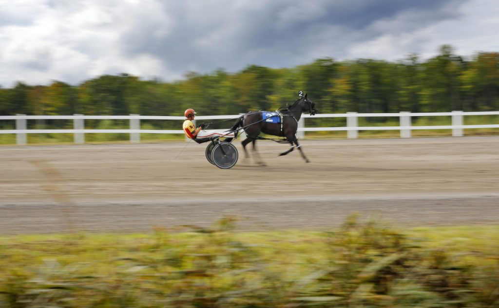 Driver Nick Graffam of Falmouth goes around the track at the Oxford County Fair in 2016. The Bangor Raceway is picking up several of the days drivers will lose in Oxford.