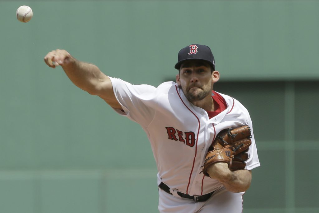 Nathan Eovaldi made a strong debut with the Boston Red Sox on Sunday afternoon, pitching seven shutout innings against the Minnesota Twins at Fenway Park. Eovaldi allowed four hits, struck out five and didn't walk a batter in Boston's 3-0 win.
