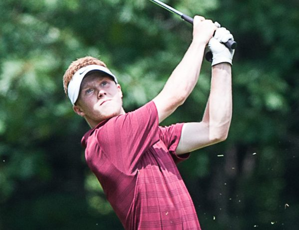 Mitchell Tarrio finished the first nine holes at 4 under Tuesday in the opening round of the Maine Junior Championships at Brunswick Golf Cub. Tarrio finished with a 3-under 69, and has a three-stroke lead.