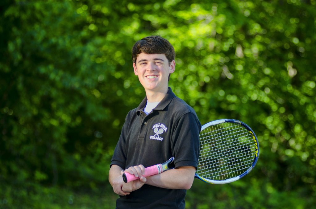 MacKenzie Creamer of Hall-Dale is the Kennebec Journal Boys Tennis Player of the Year.