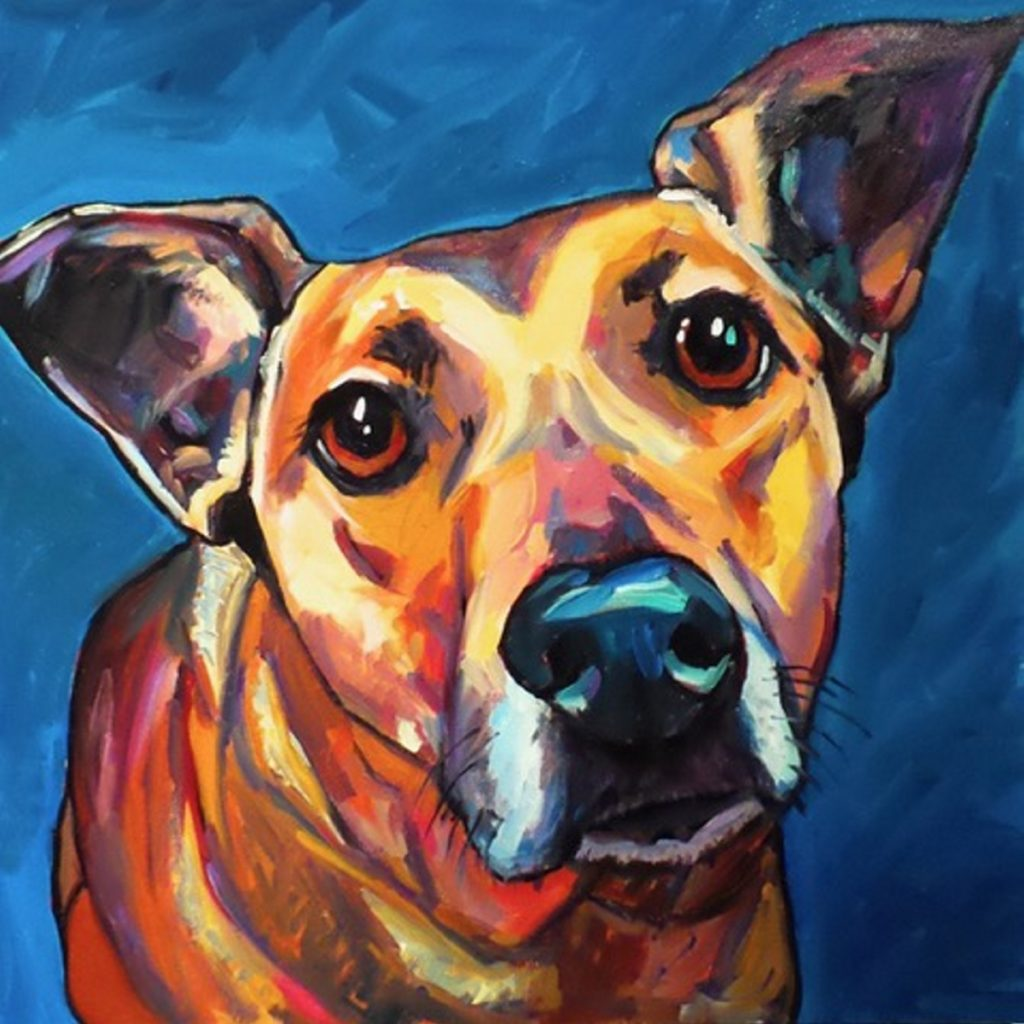 """Treat Please,"" oil on canvas, by Elizabeth Fraser, of Portland."