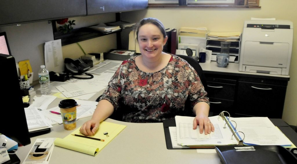 City of Waterville Financial Director Heather Rowden, seen Feb. 28, 2017, at her office in Waterville City Hall, is leaving for a job in California.