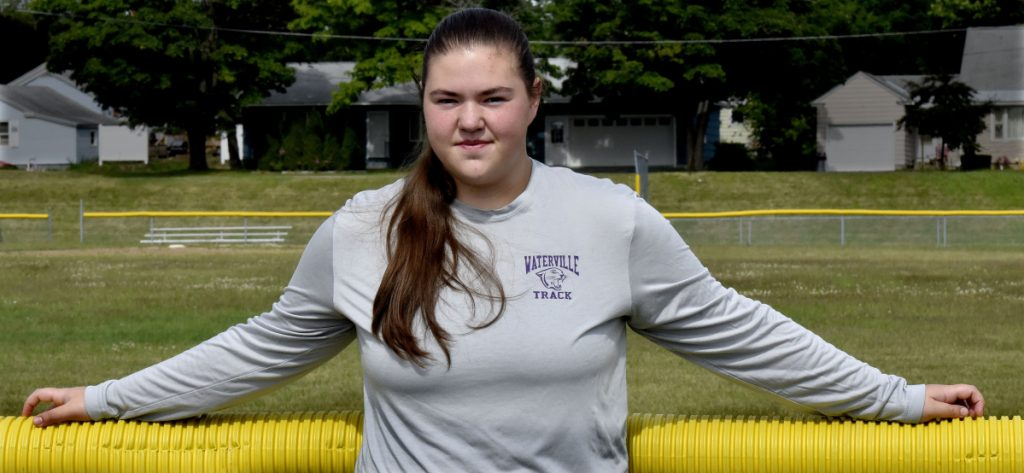 Sarah Cox of Waterville is the Morning Sentinel Girls Track and Field Athlete of the Year.