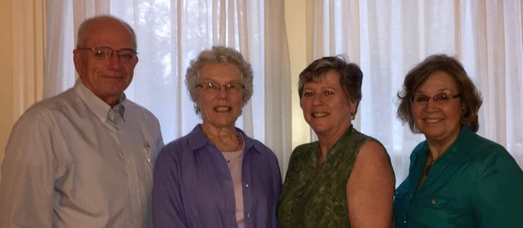 Maine Music Society's new elected officers, from left are Treasurer Gil LaPointe, Secretary Susan Trask, Vice Chairwoman Sandy MacDonald and Chairwoman Connie Hitchcock.