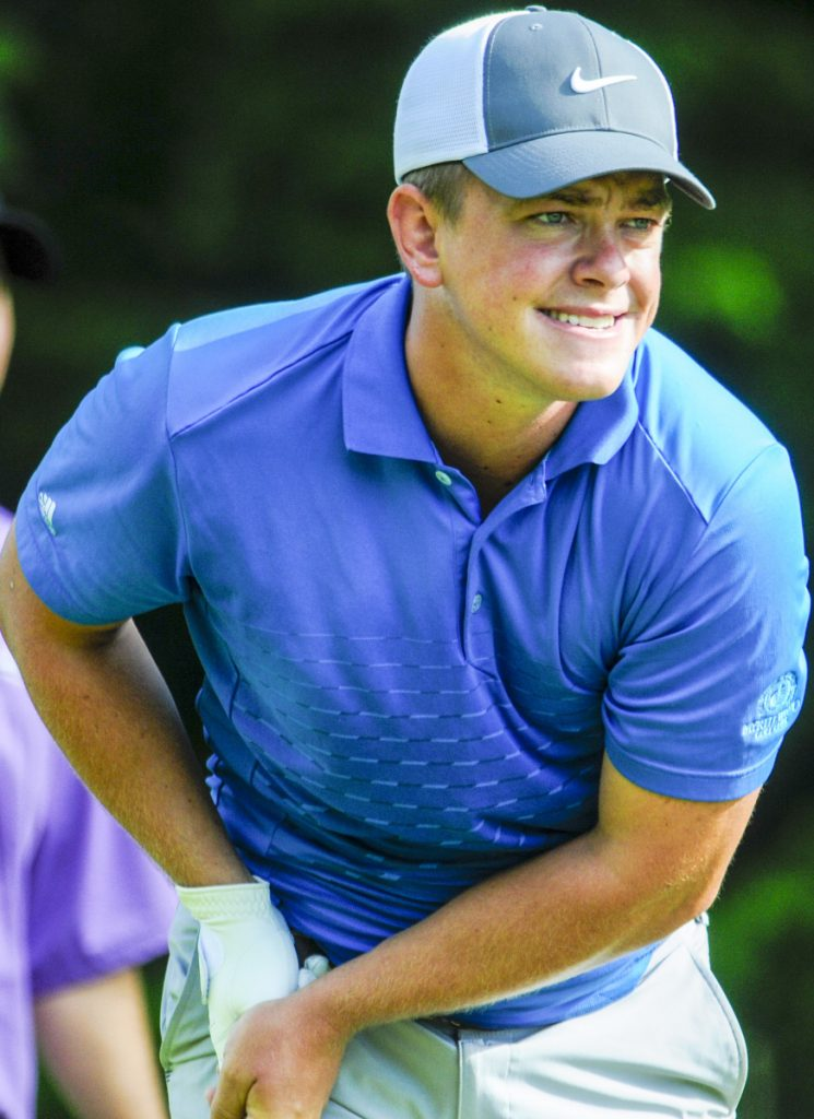 high schooler takes first round lead at maine amateur golf championship. Black Bedroom Furniture Sets. Home Design Ideas