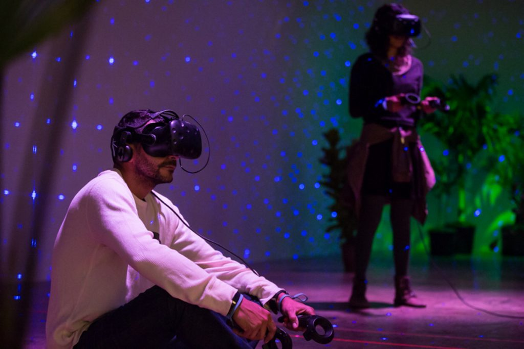 "Brazilian new media artist duo VJ Suave, returning once more to MIFF with an exciting new virtual reality exhibit, ""Floresta Encantada,"" featuring a magical Virtual Reality forest that will respond to gestures and movements."