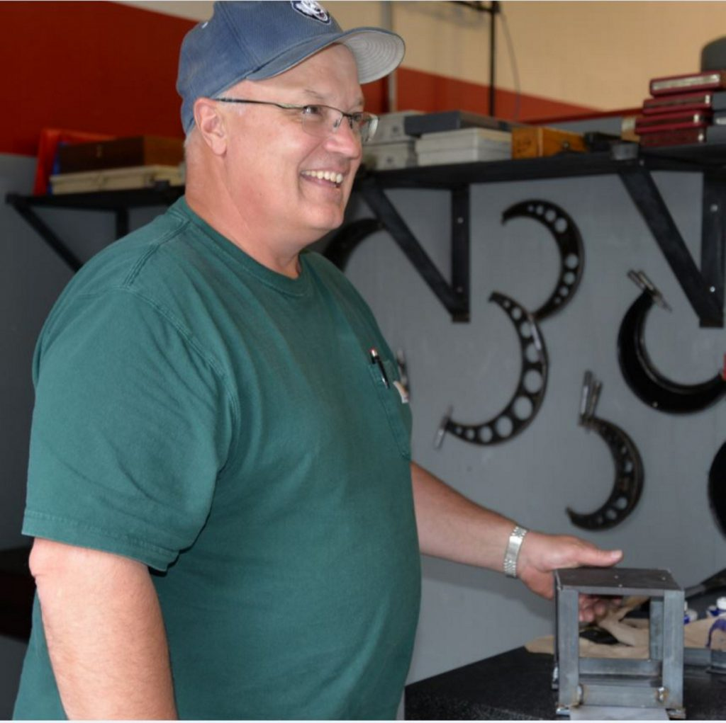 KVCC Precision Machining Instructor Jeff Godin at the Welding and Fabrication Day Camp.
