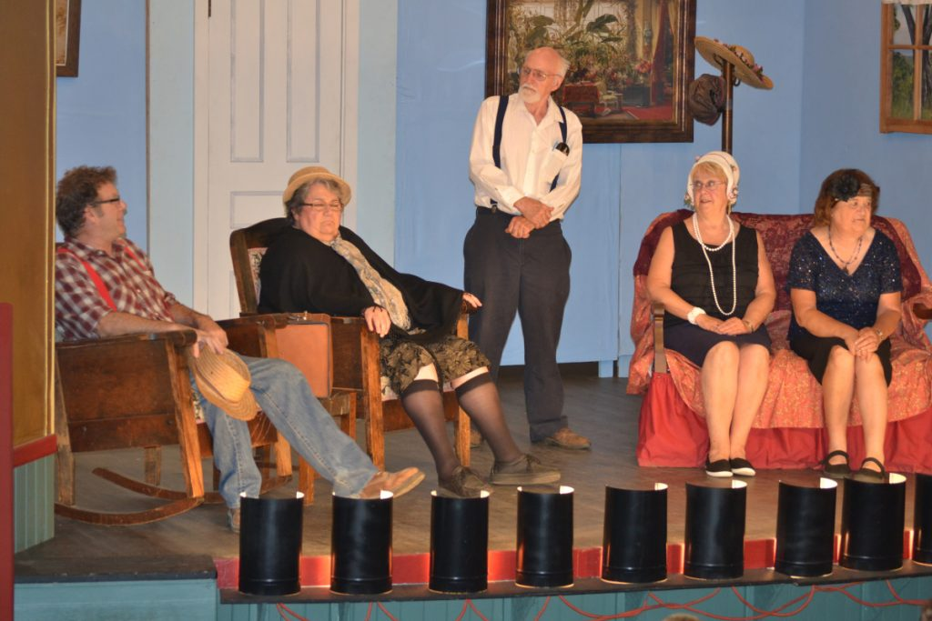 From left are Steve Mallen, Ellie Andrews, Allan Harville, Eileen Lord and Barbara Gilman in a previous production of Vienna Historical Society plays.