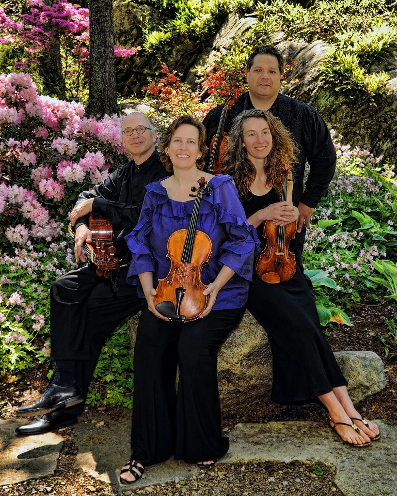 DaPonte String Quartet from left are Myles Jordan, Kristen Monke, Lydia Forbes and Ferdinand Liva, left to right.
