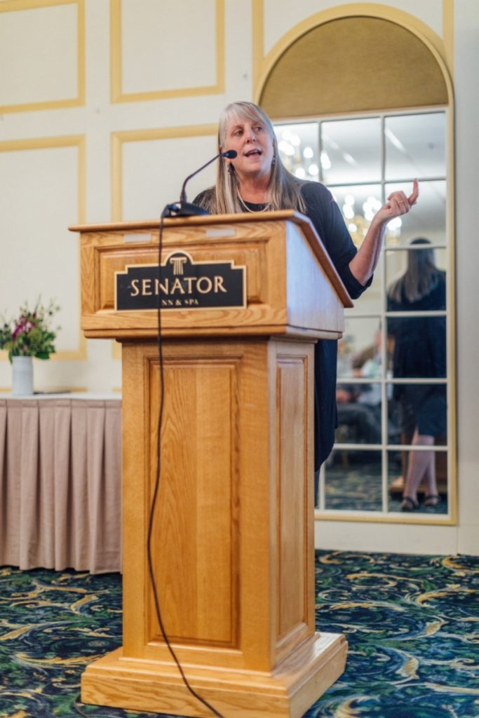 Ann Woloson, executive director of Consumers for Affordable Health Care, was keynote speaker at the Kennebec Behavioral Health's 58th annual meeting held at the Senator Inn in Augusta.