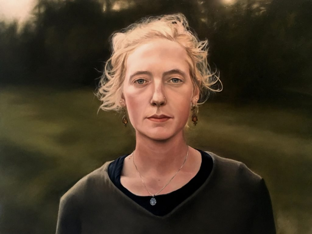 Hannah, Oil on Panel, 18 by 24, by Maxwell Nolin.